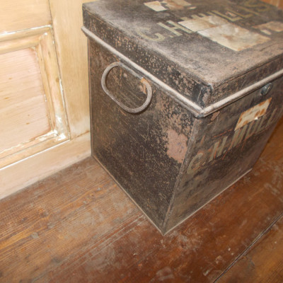 Vintage Steel Deed Storage Box